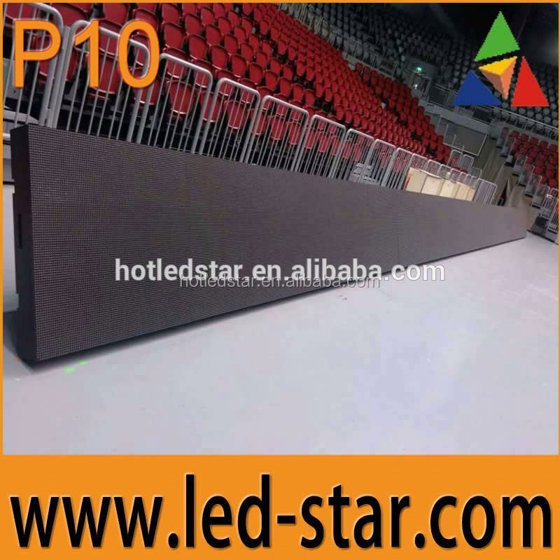 HOTSTAR most welcomed full color rgb led screen module p10 low power consumption from China manufacturer