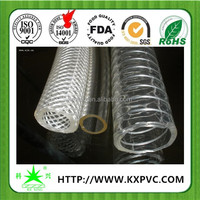 pvc electrical flexible hose with spiral steel wire