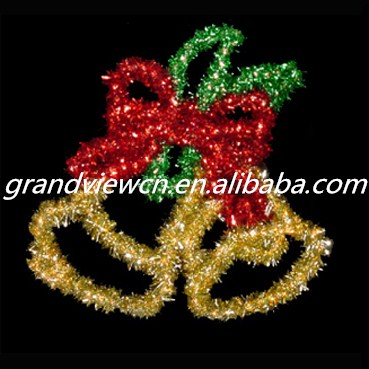 high quality led jingle bell motif decorative