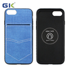 Fashion Denim Skin With Hardware Piece PC+TPU Hybrid Cover For iPhone 7 Case