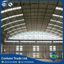 Coshare Diversified Management Excellent Wind Resistant light steel structure glass atrium roof