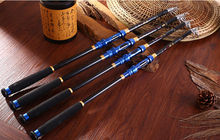 Saltwater Travel Telescopic Fishing Rod Blue Carbon Fishing Tackle Pole (1pc)