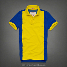 Yellow And Blue Vertical Striped Mens Shirt colorful polo
