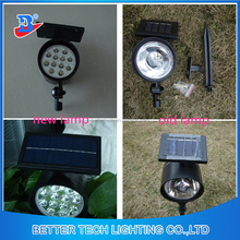 New manfacturer China spot lights led garden lamp High Lumen Solar Powered LED Spot Flood Light With 12pcs LED