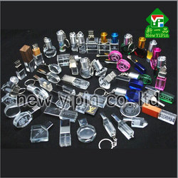Top selling crystal glass USB Flash Drive 8gb usb flash drive for gift with custom logo laser inside