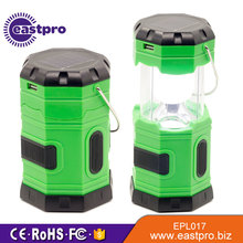 Timely Service USB Mobile Charger Collapsible Solar Rechargeable Flashlight led camp lighting