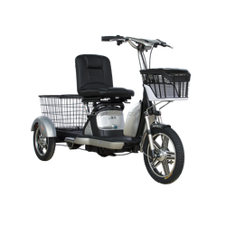 three wheels adult electric tricycle with back basket