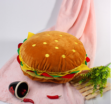 Custom cartoon hamburger plush cushion burger pillow