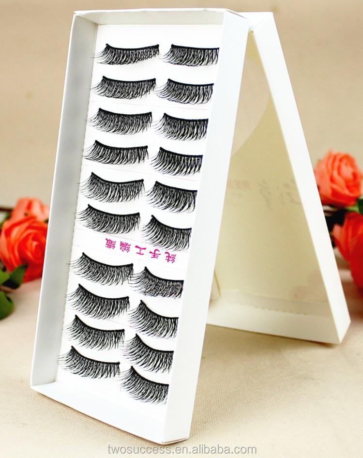 factory supply 10 Pairs Reusable magic Eye lash Long False Eyelashes custom package box lashes