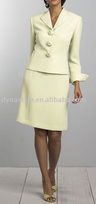 Women's Uniform Suit Lady's Coat Jacket and Skirts Set
