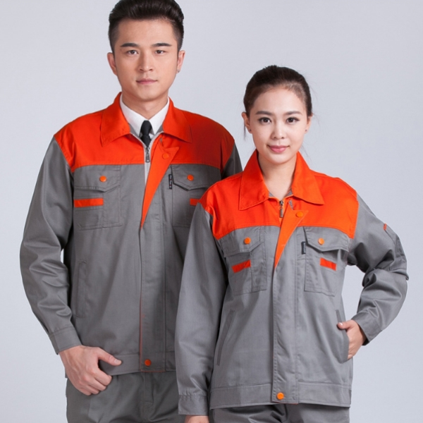 OEM high quality polyester cotton long sleeves factory safety worker uniform /work jacket