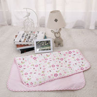 bamboo fibre water-proof and free breathing ultralarge baby changing pads mat pink garden