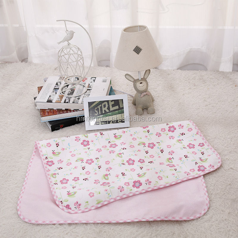 bamboo fibre water-proof free breathing baby infant changing pads nappy changing mat