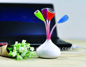 Hot Sell Flower USB Powered Hub with 4 Port