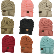 In Stock Caps Unisex CC Beanie Adult Thick Warm Solid Winter Knitted Hat