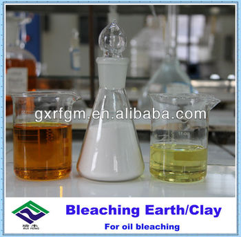 Bleaching powder for lubricant refining/recyling