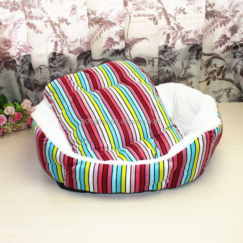 The new wholesale striped pet kennel cat litter pet bed Teddy nest kennel - No.