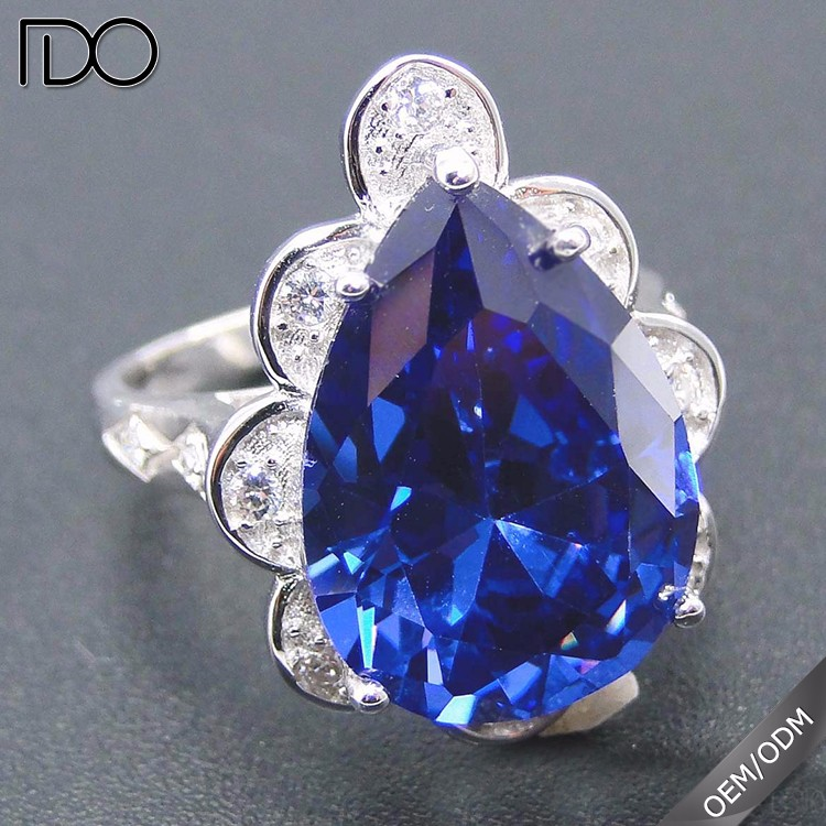 Most fashionable tanzanite color size 13 rings for women