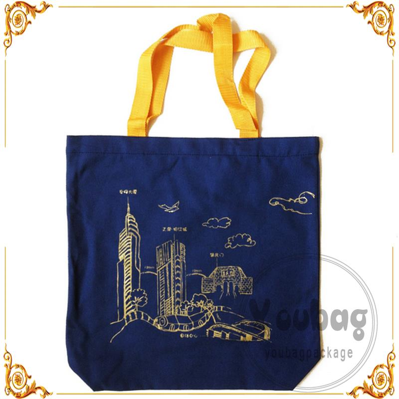Recycled wholesale cheap cotton bag with one side drawstring with low price