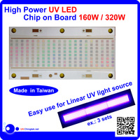 UV LED chip module 365nm 385nm 395nm 405nm lamp High power Chip on Board uv curing system 160W - A3a1