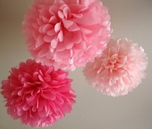 Wholesale Summer Wedding Paper Decorations Hanging Tissue Pom poms Ball