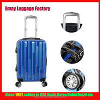 Fashionable Eminent Blue ABS PC Trolley Luggage Best Traveling Bags