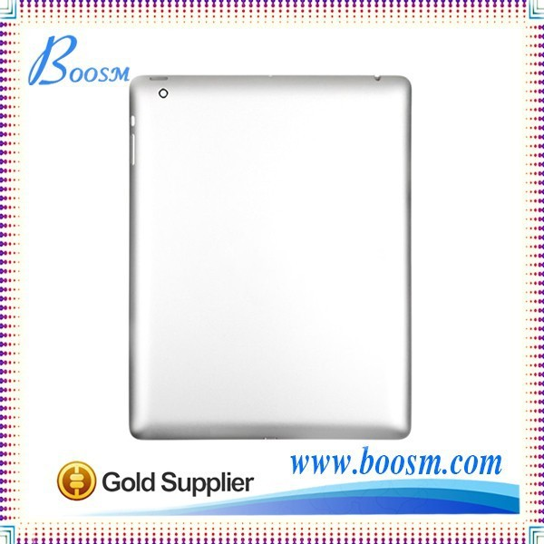 New arrivals top quality 9.7'' original silver for ipad 4 battery cover case,for ipad 4 back cover