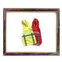 Red/yellow water proof pet clothes/pet raincoat for large dogs