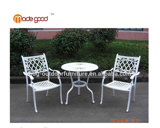 white garden patio aluminum table and chair set outdoor furniture design