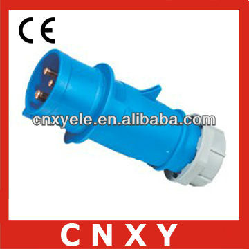 male and female industrial plug and socket