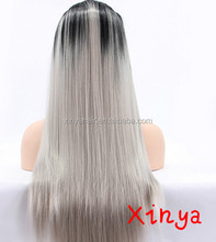 2016 hot selling products silver grey human hair lace wigs wholesale