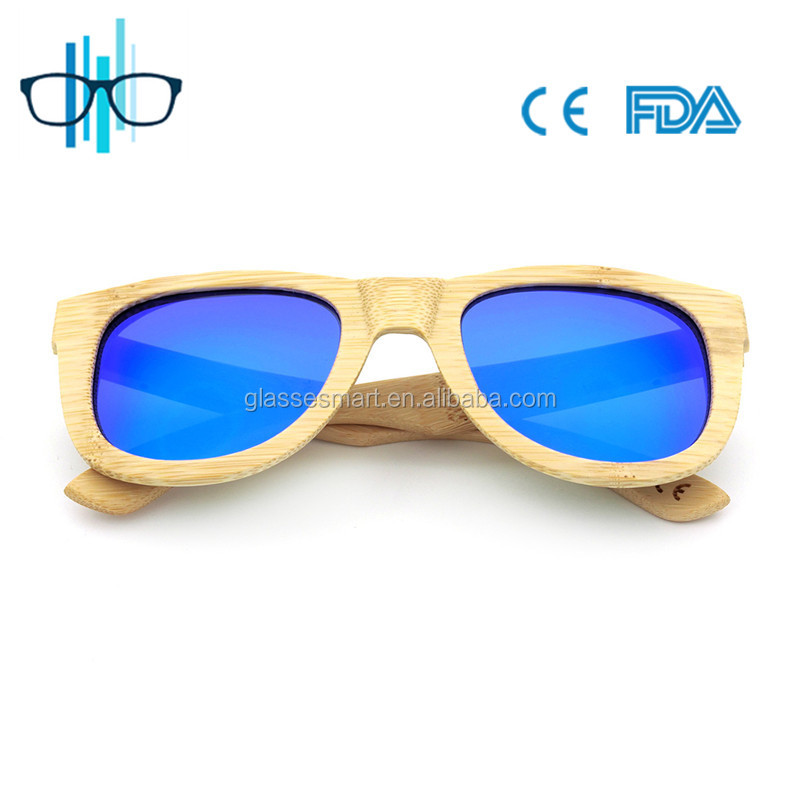 Wholesale Latest Fashion Safety Polarized Wooden Sunglasses Men