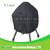 Outdoor UV Protected X Large 27 Inches Diameter Black BBQ Grill Cover
