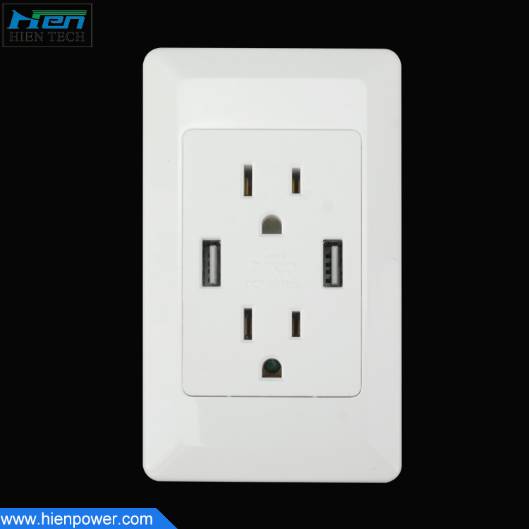 Furniture power outlets US standard USB wall socket 5V2A