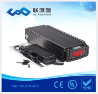 Cheap Price 48V 10AH lifepo4 / lithium ion battery pack for electric bike with tail light