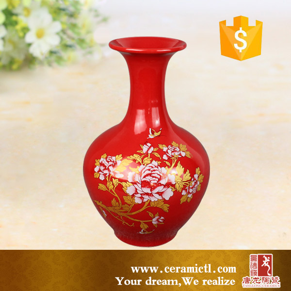 High quality chinese antique home decoration ceramic flower vases for wedding centerpieces