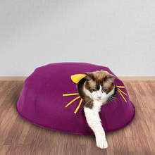 Pet Products Popular Handmade Luxury Felt Play House Cat Cave