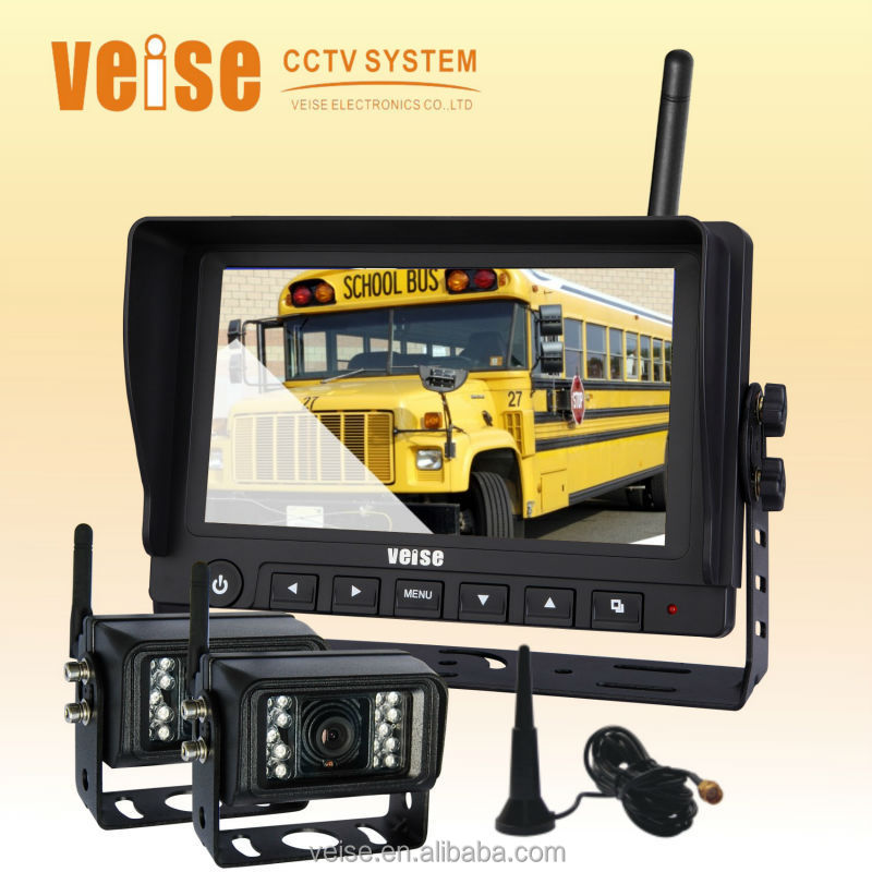 7 inch Wireless Rearview Back Up Camera System,Tractor Camera, for SUV, Excavator, Boat