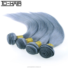 real human hair extensions grey brazilian hair color silver grey