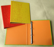 spot UV printing 4 D ring binder