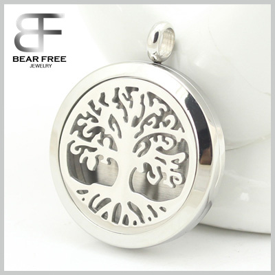 Aromatherapy Essential Oil Diffuser Necklace Pendant Lifetime Stainless Steel Locket Jewelry