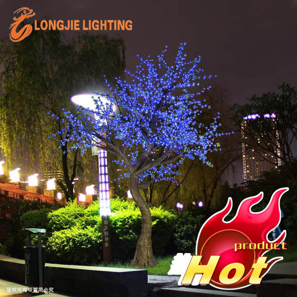 OUTDOOR blue led cherry blossom tree light/ led artificial tree lamp