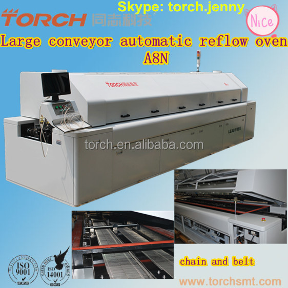 Automatic Large-size lead-free conveyor Oven with 8 heating zones