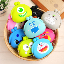 Female Mini Cartoon Purse animal Soft Silicone Coin Bag/wallet Case
