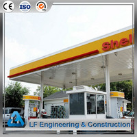 Galvanized steel structure prefabricated gas station used canopy