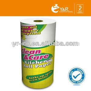 virgin wood pulp or recycled pulp wholesale kitchen paper towel