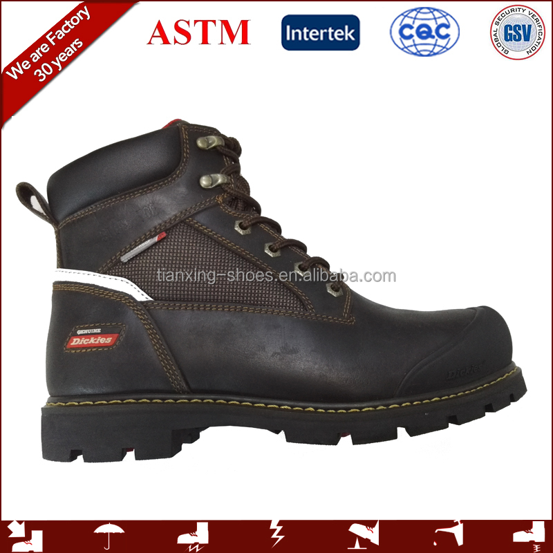 waterproof steel toe work boots with genuine leather
