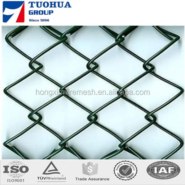 Hot Dipped&Electric Galvanized Steel Chain Link Fence Fabric, 11.5-Aw Gauge