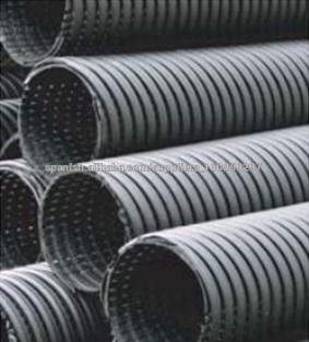poroso corrugado perforado hdpe tubo de drenaje de 200 mm