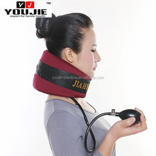 Physical neck therapy 8 layers inflatable cervical neck traction devices with PVC tubes